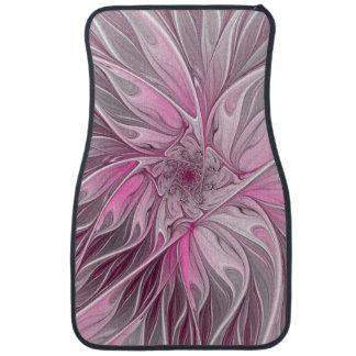 Fractal Pink Flower Dream, Floral Fantasy Pattern Car Mat