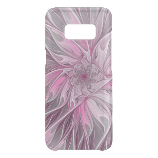 Fractal Pink Flower Dream, Floral Fantasy Pattern Uncommon Samsung Galaxy S8 Case
