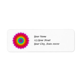 Fractal Prismatic Rainbow Return Address Labels