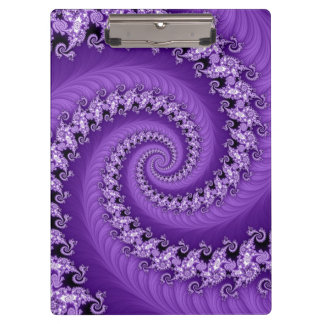 Fractal Purple Double Spiral Clipboard