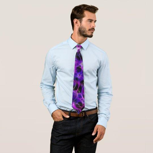 Fractal Purple Scattered Sequins Tie