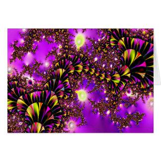 Fractal Purple Stairway to Heaven Greeting Card