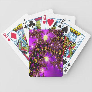 Fractal Purple Stairway to Heaven Poker Cards