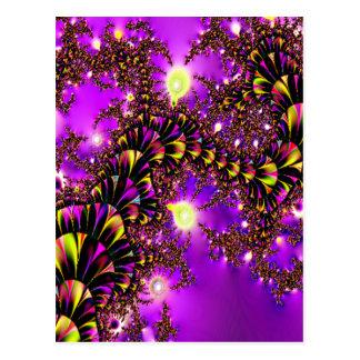 Fractal Purple Stairway to Heaven Postcard