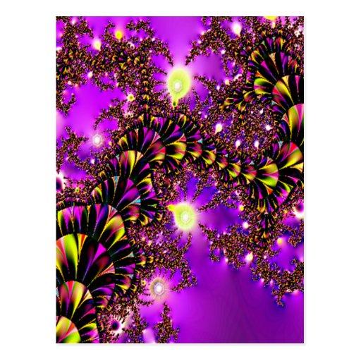 Fractal Purple Stairway to Heaven Post Card