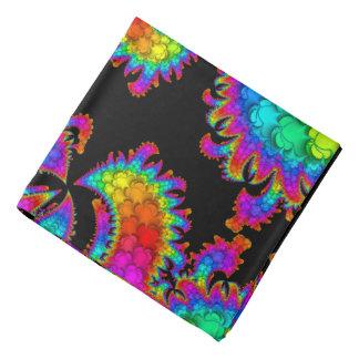 Fractal Rainbow Burst Bandanas