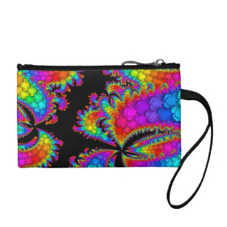 Fractal Rainbow Burst Coin Purse