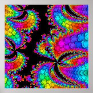 Fractal Rainbow Burst Poster
