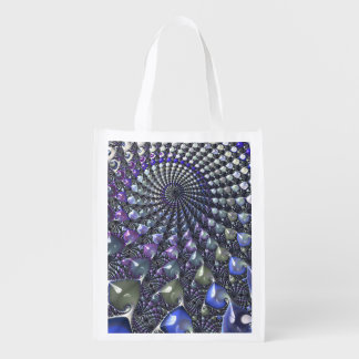 Fractal repeating patterns shopping bag