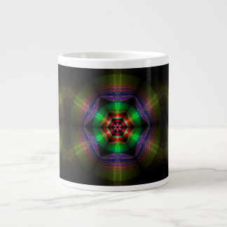 "Fractal ""Ripples of Reflection"" Large Coffee Mug"