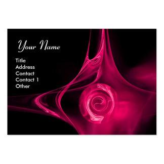 FRACTAL ROSE 1 bright pink black Business Card Template