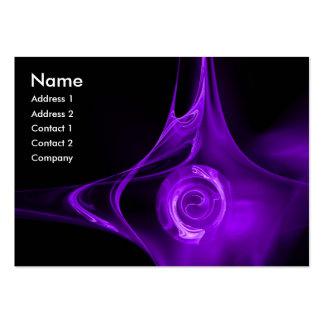 FRACTAL ROSE 1 bright purple black Business Card Template
