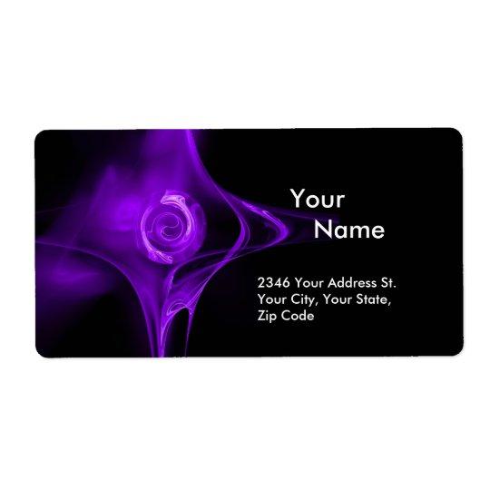 FRACTAL ROSE 1 Purple Violet Black