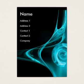 FRACTAL ROSE 2 bright blue Business Card