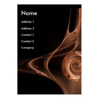 FRACTAL ROSE 2 bright brown black Business Cards