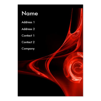 FRACTAL ROSE 2, bright red Business Cards