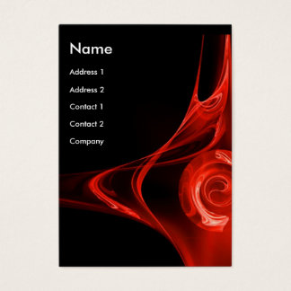 FRACTAL ROSE 2, bright red Business Card