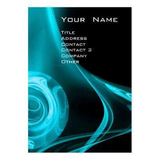 FRACTAL ROSE 3 bright  blue Business Cards