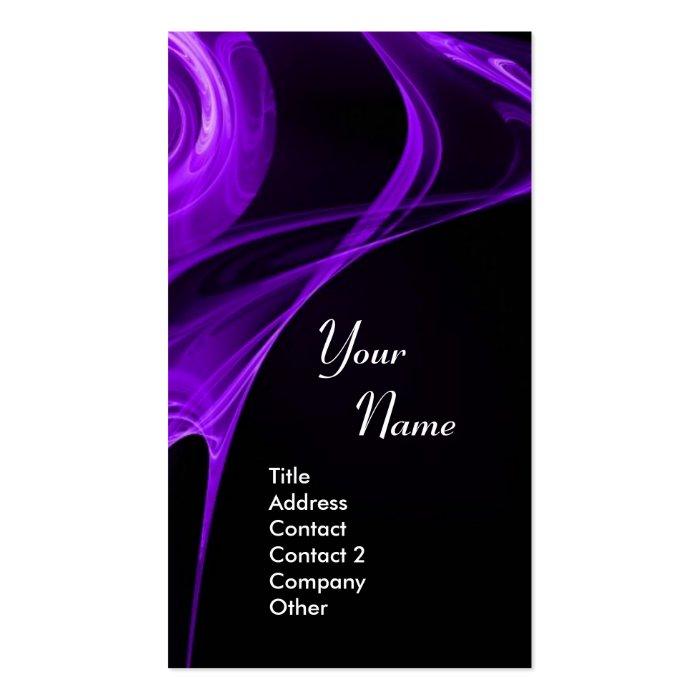 FRACTAL ROSE 3 bright dark purple Pack Of Standard Business Cards