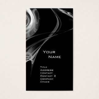 FRACTAL ROSE 3 bright light black and white grey Business Card