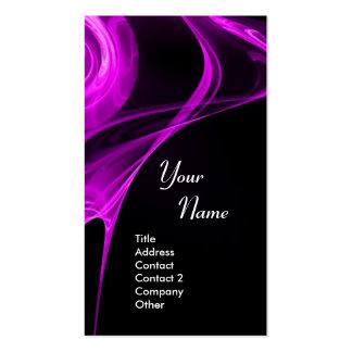 FRACTAL ROSE 3 bright light purple Business Card Template