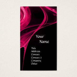 FRACTAL ROSE 3 bright pink black Business Card