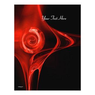FRACTAL ROSE bright red black 21.5 Cm X 28 Cm Flyer