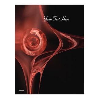 FRACTAL ROSE soft antique red black 21.5 Cm X 28 Cm Flyer
