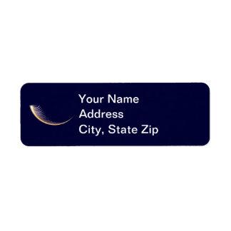Fractal Shofar Return Address Label