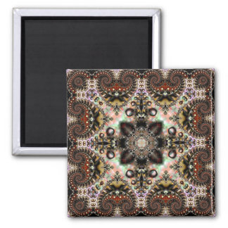 Fractal Silk Kaleidoscope 7 Magnet