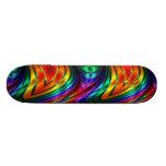 Fractal Silk Rainbow Skateboard