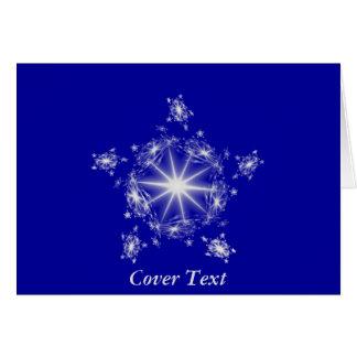Fractal Silver Star  Card