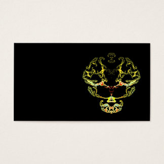 Fractal skull business card