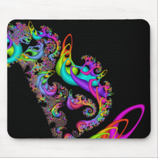 Fractal Sorbet Swirl Mouse Mat