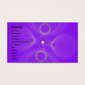 Fractal Sound Waves Business Card
