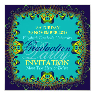 Fractal Spice Exotic Graduation Party Invitation