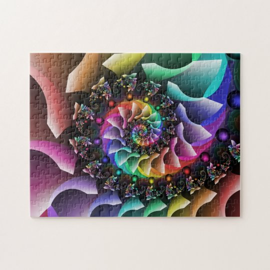Fractal Spiral Colour Parade Jigsaw Puzzle