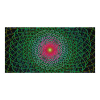 Fractal spiral customised photo card
