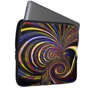"""Fractal Spiral Designed  (13"""") Electronics Bag"""