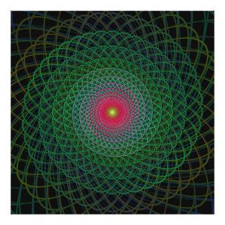 Fractal spiral art photo