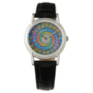Fractal Spiral Shell Beads Watch