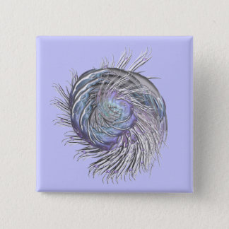 Fractal Squidly Thing 15 Cm Square Badge