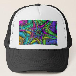 Fractal Star Cartoon Trucker Hat