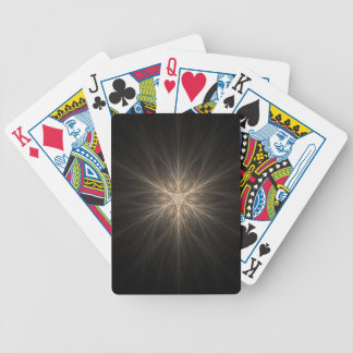 Fractal Star or Snowflake Design Bicycle Playing Cards