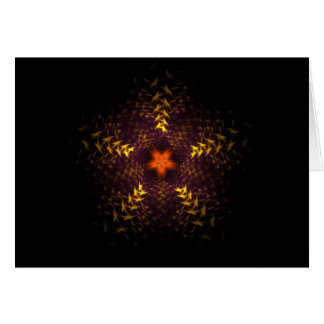 Fractal Star Pattern Card