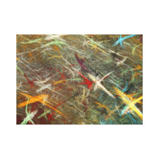 Fractal Stars Canvas Art Stretched Canvas Print