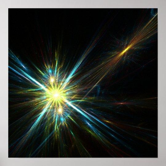 Fractal stars - Poster