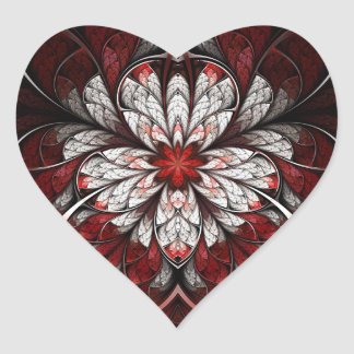 Fractal Sticker: Bleeding Heart Sticker