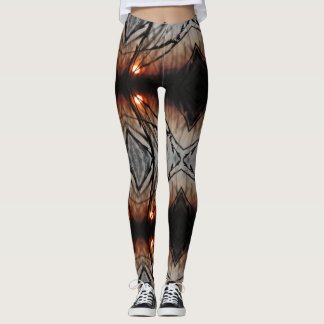 Fractal Sun Graphic Custom Leggings