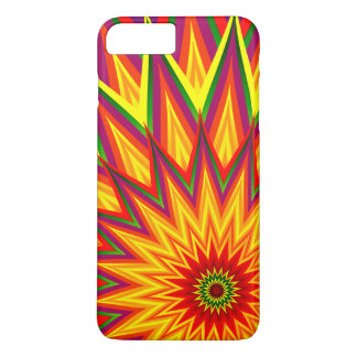 Fractal Sunflower Colourful Abstract Floral Art iPhone 7 Plus Case